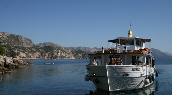 The boat to Lokrum from Dubrovnik