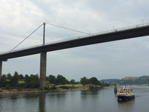 Passing Erskine Bridge
