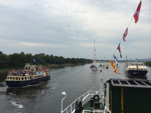 The flotilla nears Glasgow