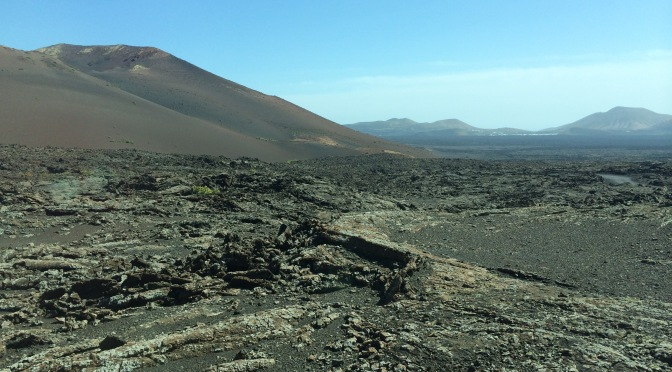 Timanfaya volcanic area on Lanzarote in the Canary Islands